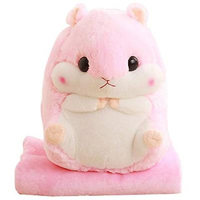 Alpacasso 3 In 1 Cute Hamster Plush Stuffed Animal Toys Thro