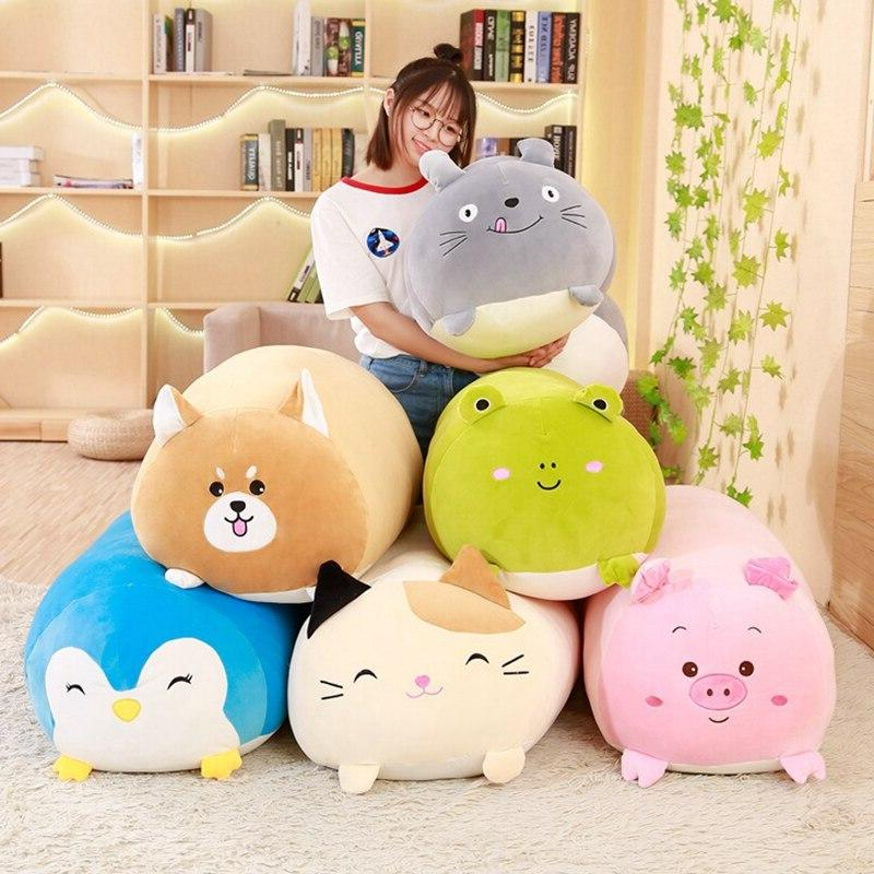 30/60cm Animal Cartoon Pillow Cute Dog <font><b>Cat</b></font> Pig Stuffed kids Gift