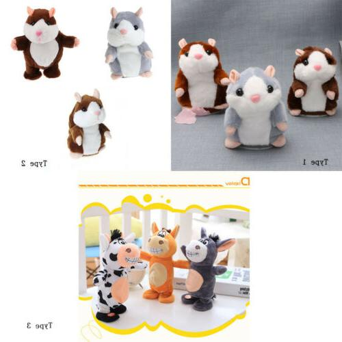 3x Stuffed Plush Doll Talking Hamster Toys Sound Recorder No