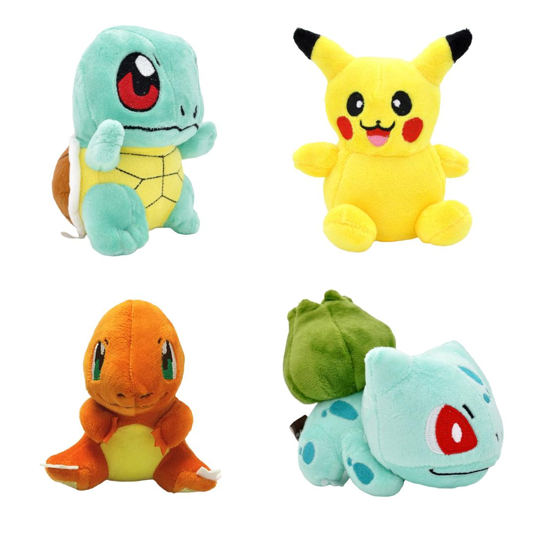 4pcs set pokemon plush toys pikachu bulbasaur