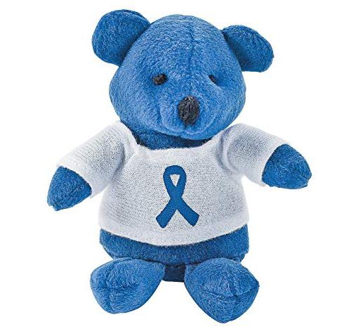 6 plush stuffed bears blue