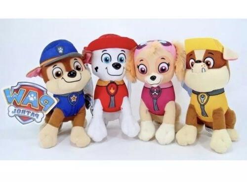 """8"""" Paw Stuffed Chase, Rubble, & Skye"""