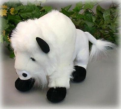 "Wishpets 9.5"" White Buffalo Plush Toy"