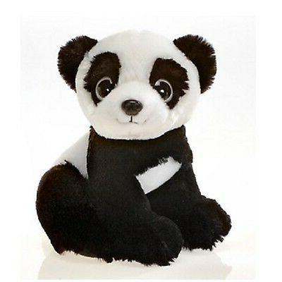 "9"" Sitting Panda Bear with Big Eyes Plush Stuffed Animal Toy"