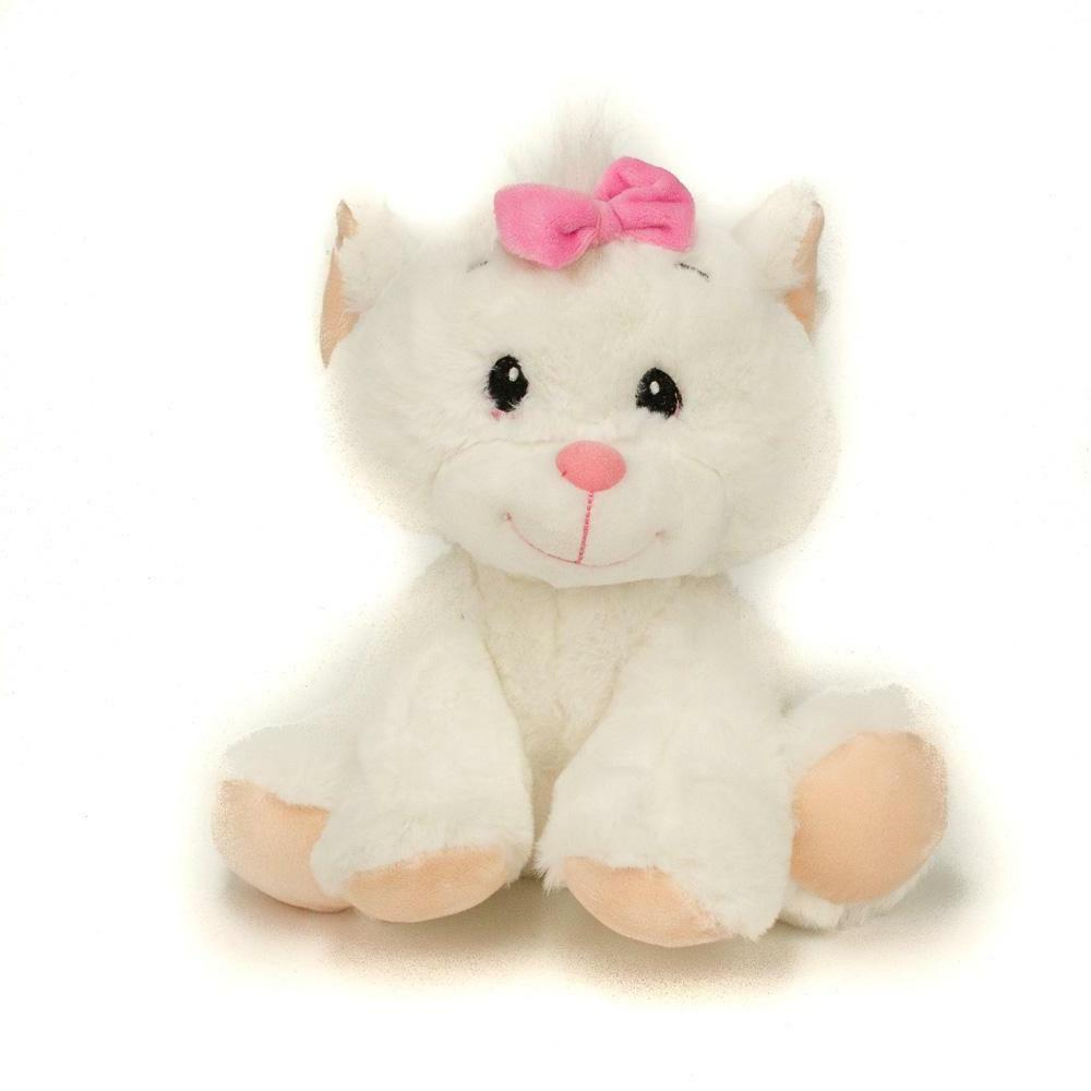 9 cat plush white stuffed animal toy