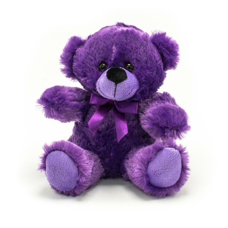 NEW Plush In A Rush Purple Small Plush Toy Teddy Bears Stuff