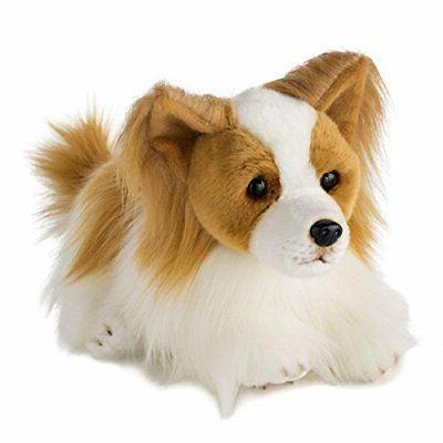 "Nat and Jules Papillon  Dog Plush Toy, Large  11.5 "" Long"
