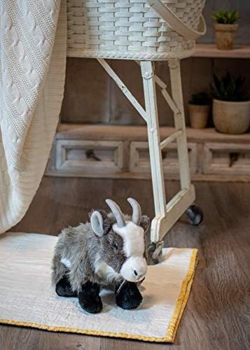 Nat Large Goat Wispy Charcoal Children's Plush