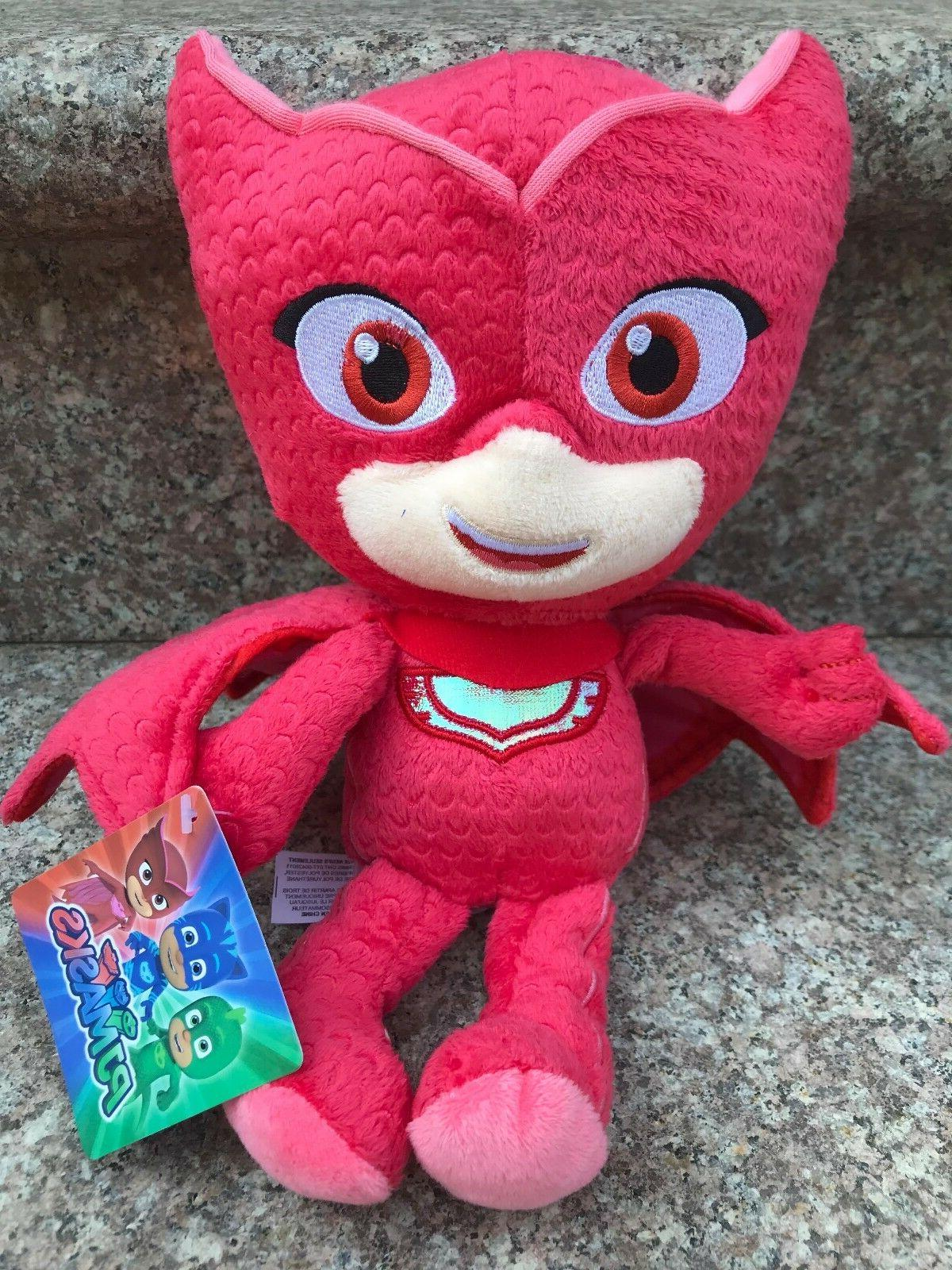 "PJ Masks Character Red Owlette 11"" Plush Doll Stuffed Animal"