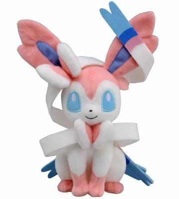 Pokemon Center Sylveon Nymphia Plush Doll Soft Stuffed Anima
