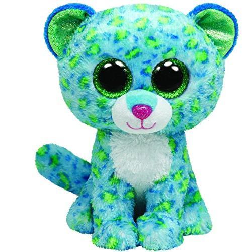 Ty Beanie Boos Leona Blue Leopard Regular Plush