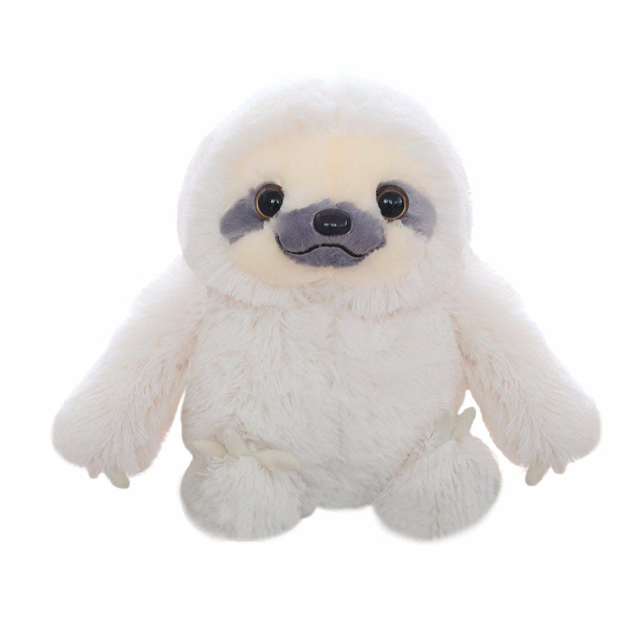 Winsterch Kids Sloth Bear Stuffed Animal Plush Toy White, 15