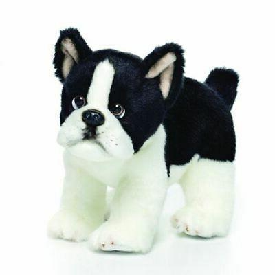 alert standing small boston terrier dog plush