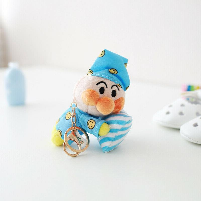 Anpanman baikinman cooking stuffed key chain doll