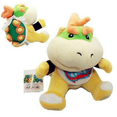 """Super Mario Bowser Jr Baby Toy Stuffed 6"""" Stock"""