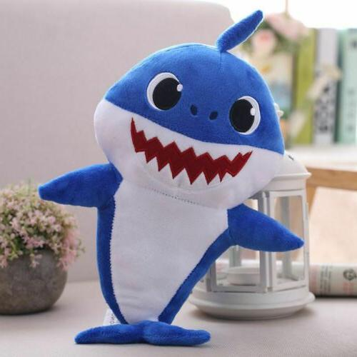 Baby Shark Cartoon Stuffed Doll English Kids