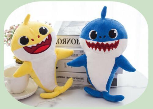 Baby Shark Cartoon Plush Toys Doll English Gift Kids