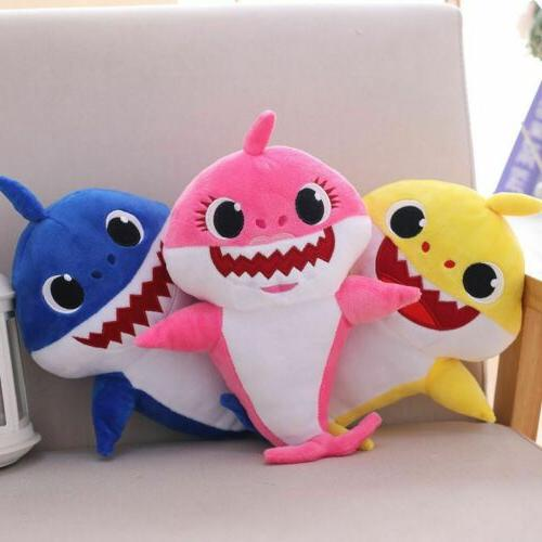 baby shark cartoon stuffed plush singing toys
