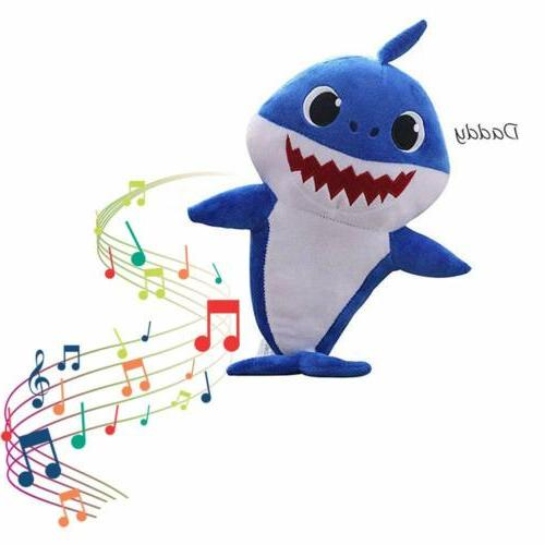 Baby Shark Cartoon Music Soft Doll English Song Gift Stuffed
