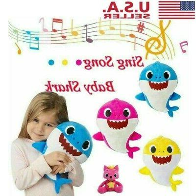 baby shark plush singing music toy cartoon