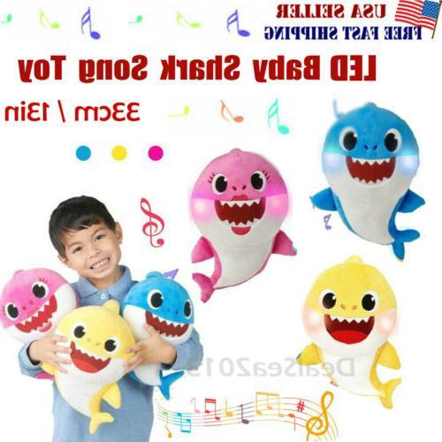baby shark plush singing toys music doll