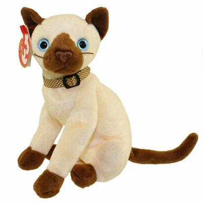 TY Beanie Baby - SIAM the Siamese Cat  - MWMTs Stuffed Anima