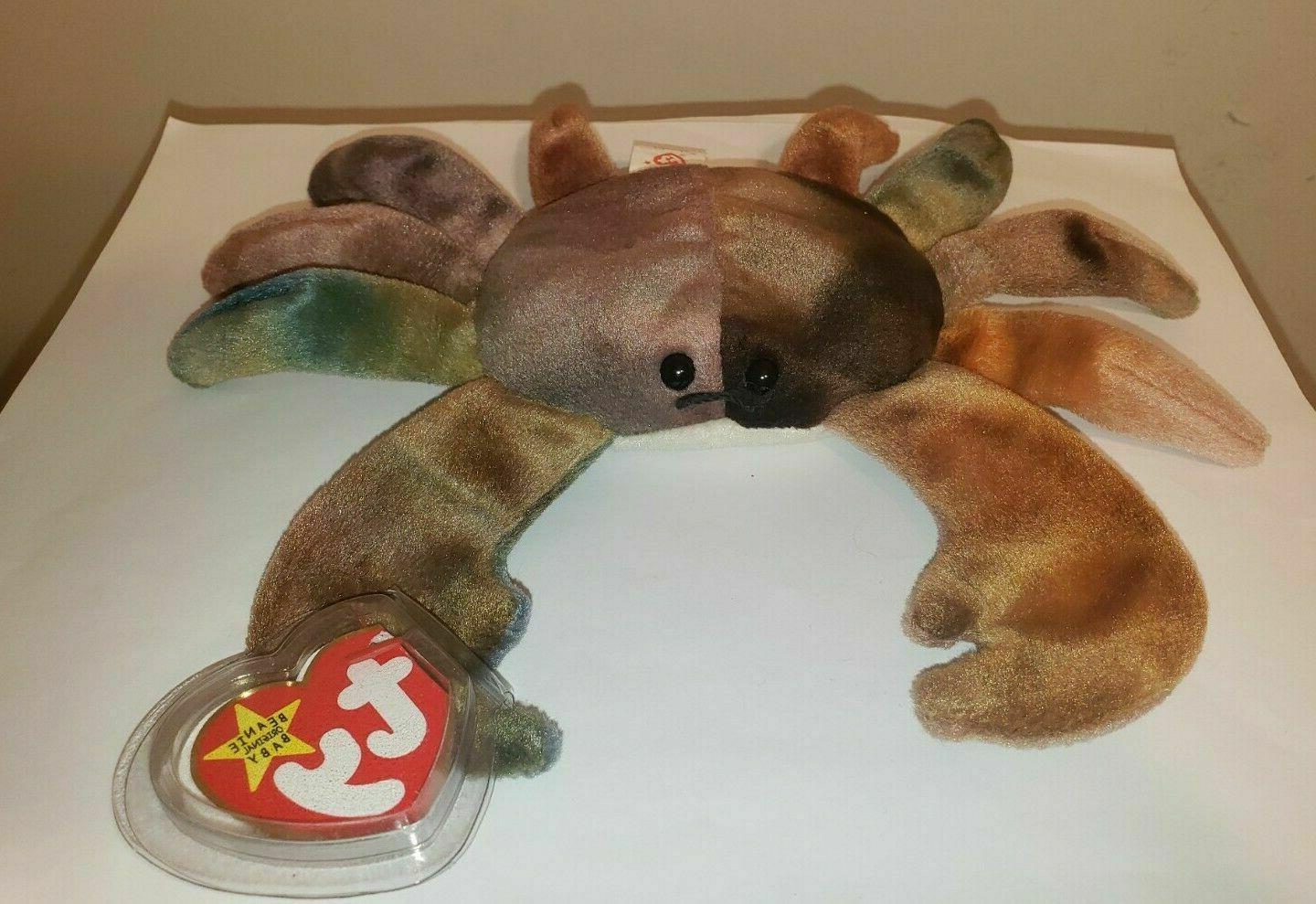 TY Beanie Babies King Crab  ** CLAUDE**  5th Gen New w/ Tag
