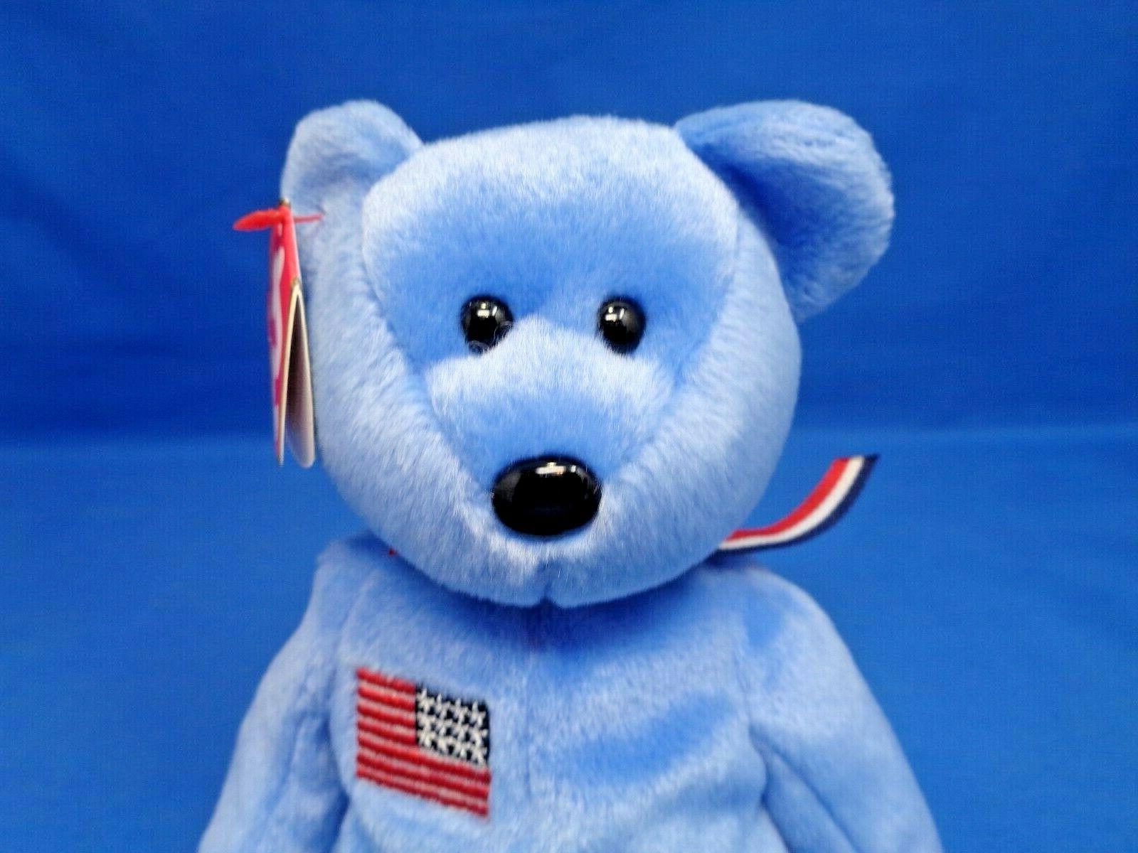 Ty AMERICA Patriotic ~ 9/11 ~Plush Toy ~8""