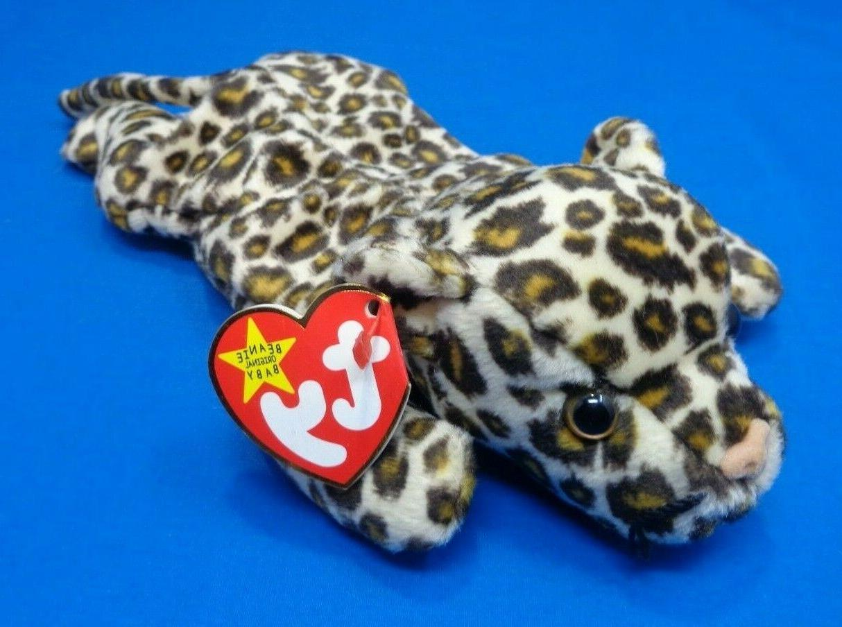 beanie baby freckles the leopard 1996 plush