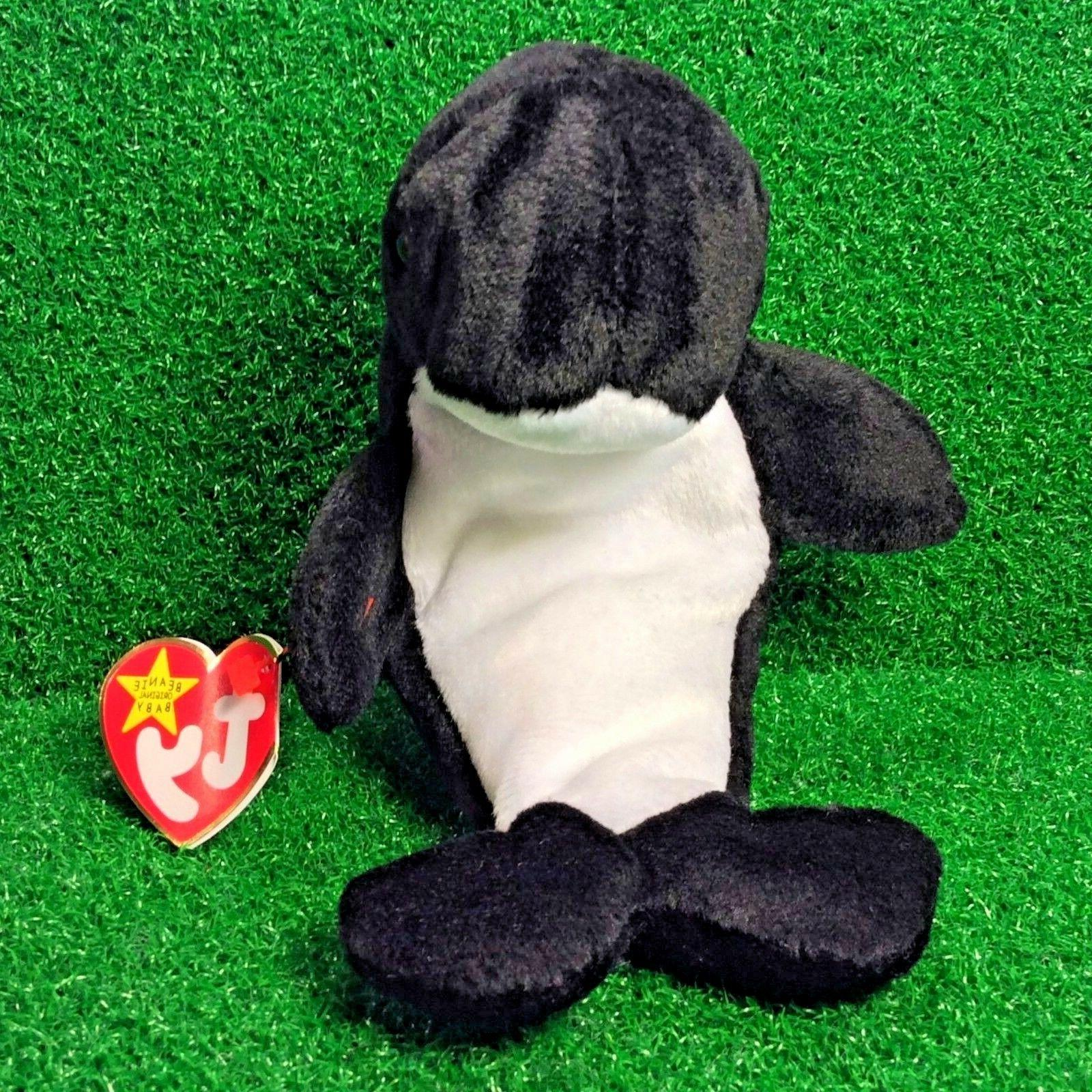 beanie baby waves the orca whale 1996