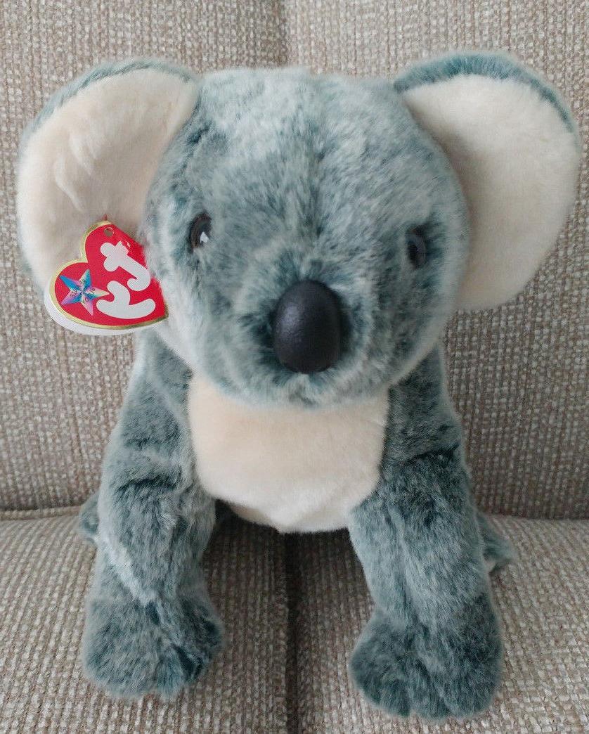 "Ty Beanie Buddies Gray Eucalyptus Koala Bear 14"" Plush Stuff"