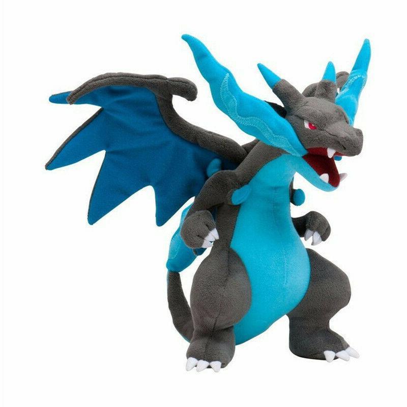 Blue Charizard X Pokemon Mega Toy Gift Plushies