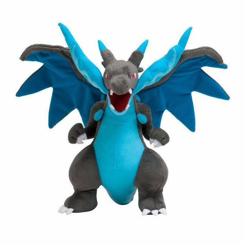 blue charizard x pokemon mega plush doll