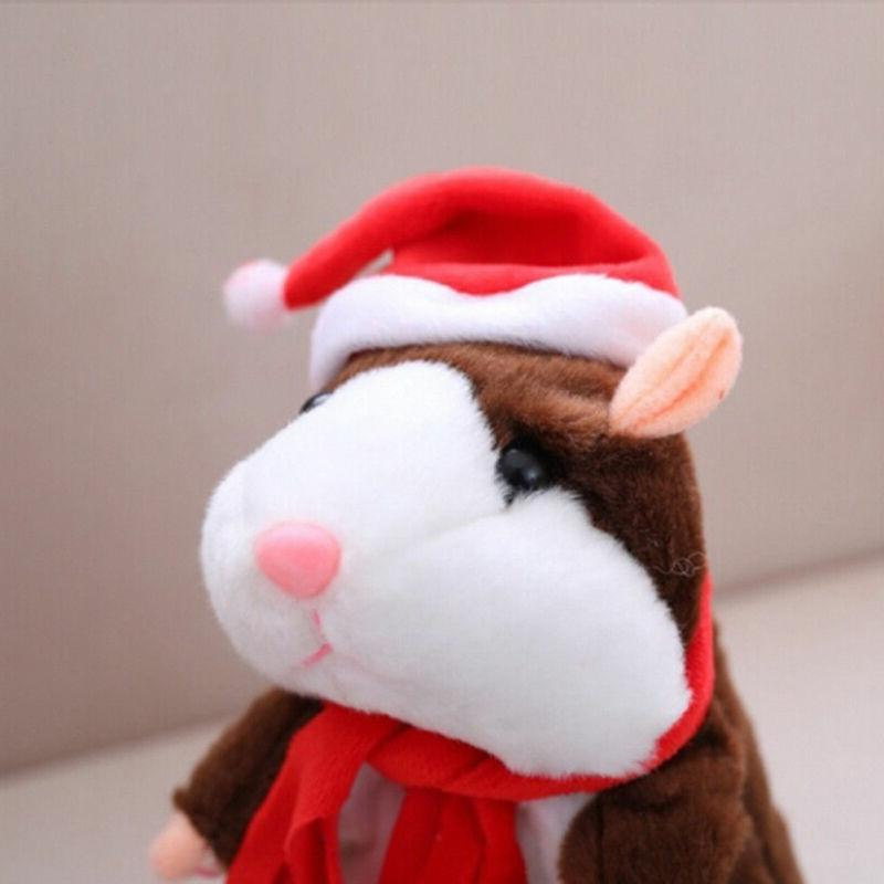 Pudcoco Hamster Pet <font><b>Toy</b></font> Cute Sound 2019 Xmas Quality Hamster