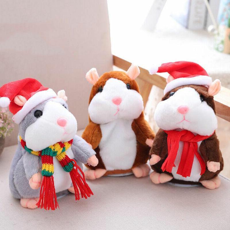 Pudcoco Hamster Talking Pet <font><b>Toy</b></font> Xmas Quality Hamster Villus