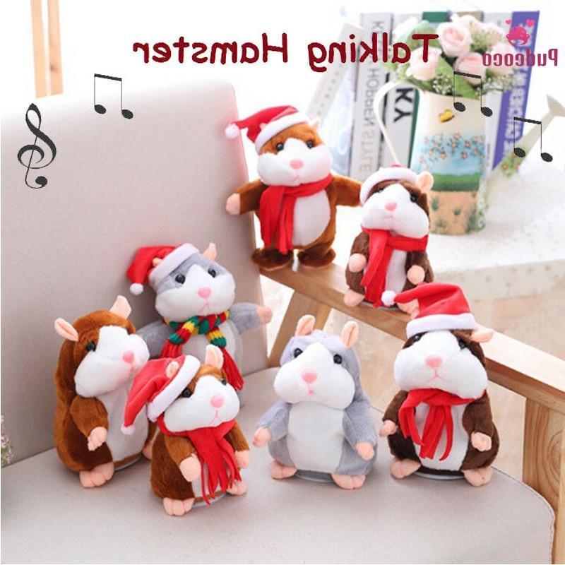 brand christmas cheeky hamster talking pet soft
