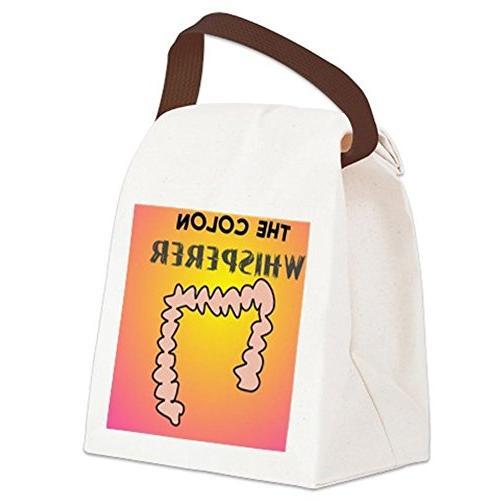 CafePress whisperer pillow pink Lunch Bag - Canvas Lunch Bag Strap Handle