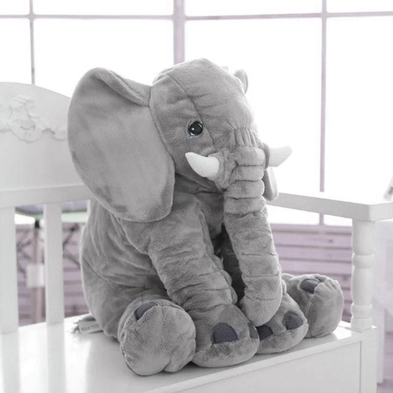 Children Large Elephant Plush Toys Lumbar Pillow
