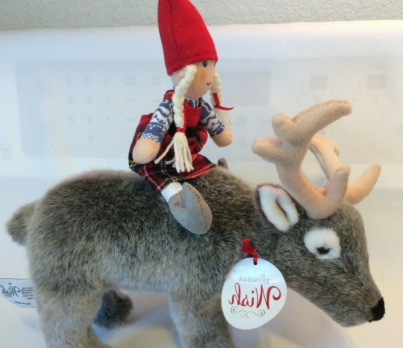 """Demdaco Christmas """"The Reindeer Wish Toy-Compliments NEW"""