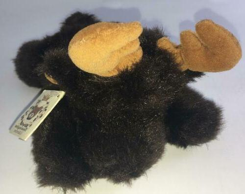 collection plush dudley brown moose laying stuffed