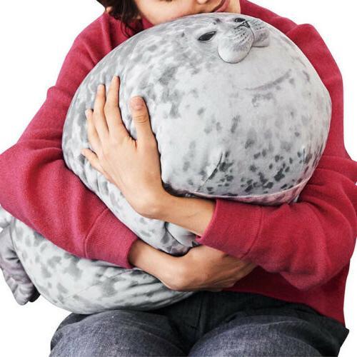 Chubby Blob Seal Plush Animal Toy Ocean Pillow Pet Stuffed D