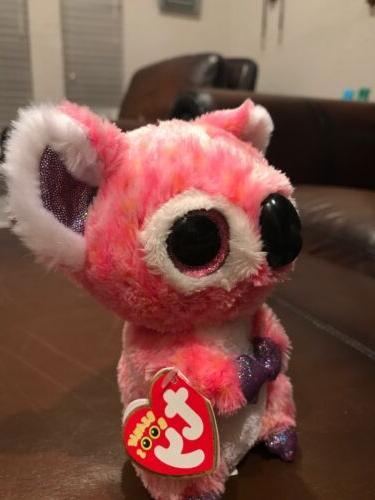 Cute Colorful Beanie Plush Stuffed Toys Glitter Eyes