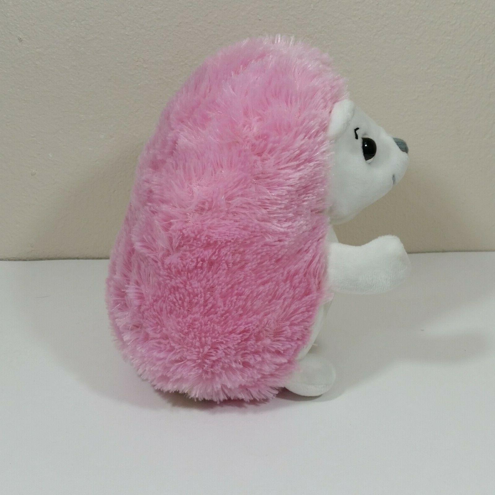 Demdaco Nat & Hedgehog 8 inch Plush Pink Toy