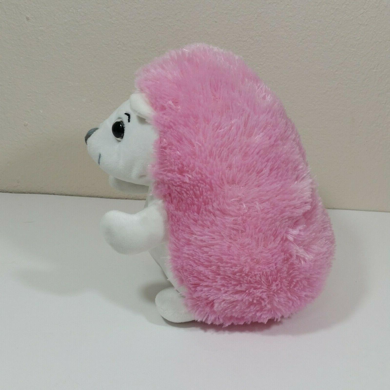 Demdaco Nat & Hedgehog inch Pink White Stuffed Animal Toy