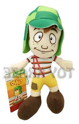 EL CHAVO DEL OCHO PLUSH! GREEN BOY SMALL SOFT STUFFED DOLL T