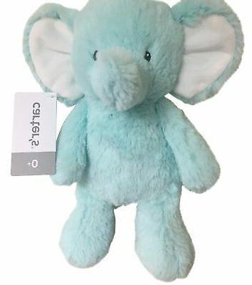 elephant plush toy one size blue