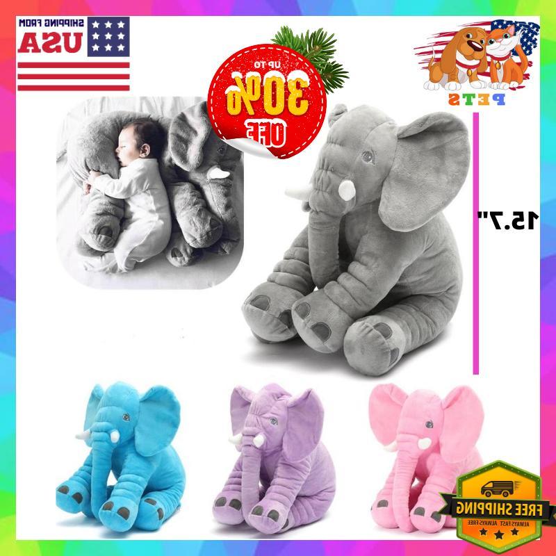 Elephant Stuffed Plush Animal Toy Kids Baby Shower Gift Nurs