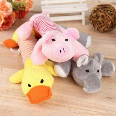 Fashion Pet Puppy Chew Plush Pig Elephant Duck Ball For Dog