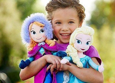 """Disney & Elsa 16"""" Stuffed"""