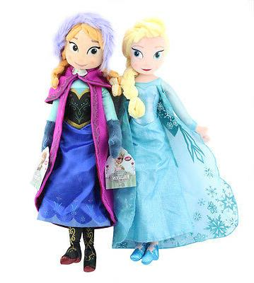 frozen princess anna and elsa plush set
